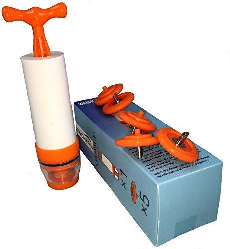 YISAMA 5 valves sous vide + pompe d'aspiration pour conserver les aliments en bouteilles réutilisables.