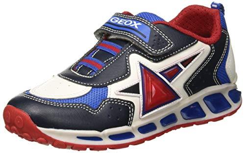 Geox Jungen J Shuttle Boy B Sneaker, Blau (Navy/White C4211), 36 EU
