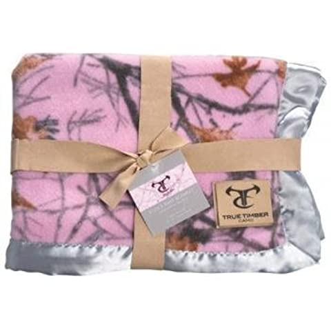 Pickles True Timber Camo Baby Blanket, Snowfall Pink, 30