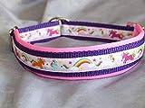 Hunde Halsband Einhorn rosa