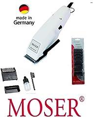 rotschopf24Edition: Moser Profiline Tondeuse Cheveux, à partir de 0,4mm, + 6Embouts en plastique (3–25mm), profischneidsatz, nouvelle technologie. 42408