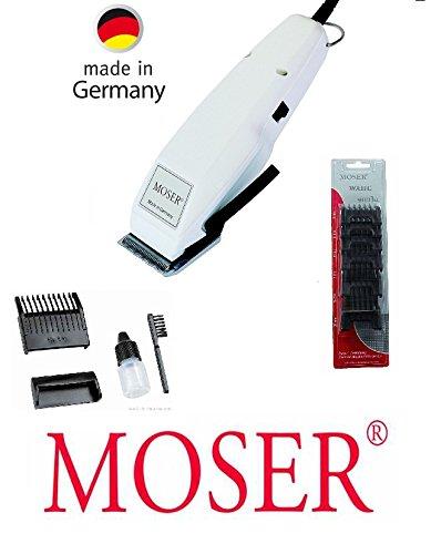 Rotschopf24 Edition: Moser Profiline Haarschneider, ab 0.4mm, + 6 Kunststoff-Aufsätze (3-25mm), Profischneidsatz, neue Technik! 42408