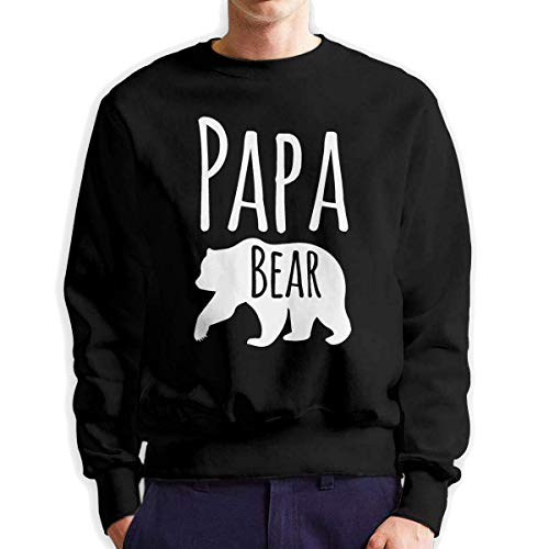 SASJOD Männer Hoodies Best Papa Bear Men's Adult Crew Neck Sweatshirt Fashion Long Sleeve Pullover -