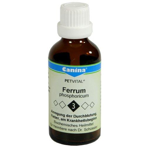 3-tier-eisen (Canina 72003 3 Dr. Schüssler Salz Nr. 3 - Ferrum Phosphoricum 15 g für Tiere)