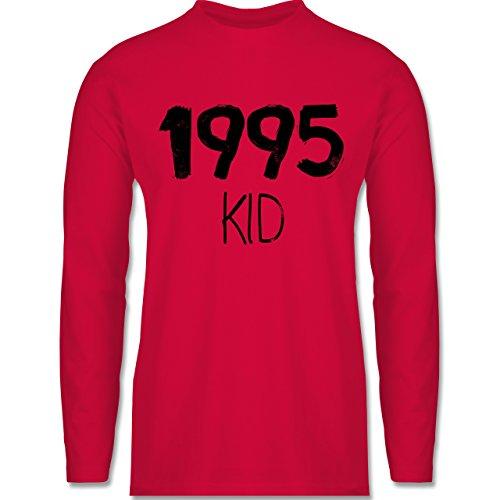 Geburtstag - 1995 KID - Longsleeve / langärmeliges T-Shirt für Herren Rot