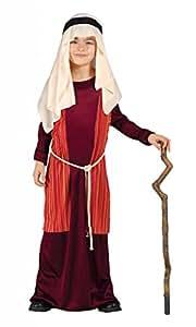 Costume pastorello arabo rosso giudeo Presepe vivente bambino 3-4 anni