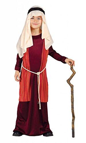 Hirte Kostüm rote arabische Juden Krippe Kind 5/6 (Kinder Kostüm Hirten)