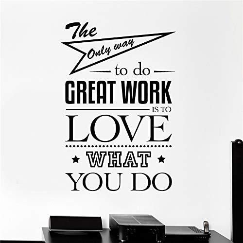 zhuziji Vinyl Wall Decal Office Zitat Art Motivation Decor Aufkleber Wandbilder Art Decor Home Decor modernes Design Wall Stick schwarz 58 X 40 cm (Tiere Arten Flash-karten Aller)