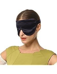 100% Seide 19mm Maulbeerseide Schlafmaske Augenmaske Augenbinde für Frauen und Männer - Strapazierfähiges verstellbares Kopfband