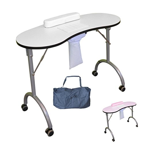 Polironeshop table de travail pliable pour manucure, reconstruction esthétique ongulaire et nail...