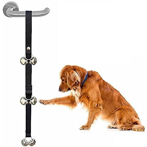 Dog Potty Campanas Timbres perrito ajustables con campanas alto como para entrenamiento de la casa, de formación del tocador