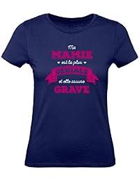 Mamie Géniale Qui Assure Grave Fêtes des Grands Mères T-Shirt Femme 2f87dc9114b