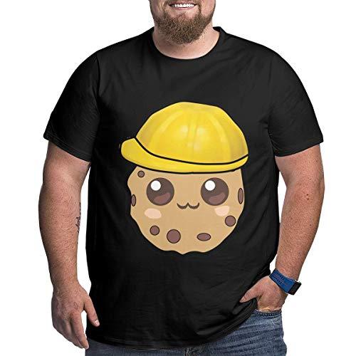 Eivan Herren T-Shirt Cookie Swirl Large Size Rundhalsausschnitt Baumwolle Kurzarm Shirt Gr. 56, Schwarz