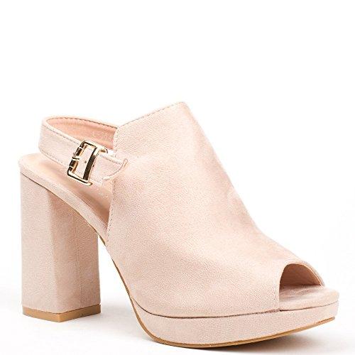 Ideal Shoes, Damen Sandalen Nude