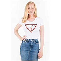 Guess Tee Shirt Jeans w83i17 Blanc - Blanc - Taille XL