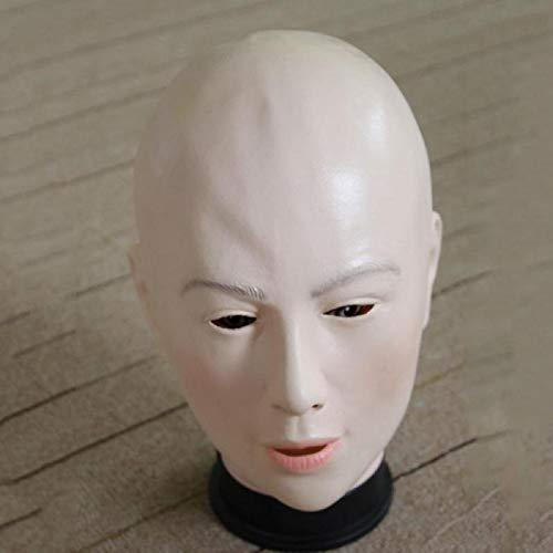 MIANJUTIA 2017 Jahre Halloween Schönheit Bald Maske Einzigartige Neuheit Lustig Kostüm Party Cosplay Latex Gummi Gruselige Horror Kopf ()