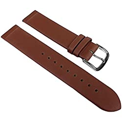 Manufaktur Leather Watch Band brown Abutting for screwing together or clipping fits for Skagen, Boccia, Bering, Rolf Kremer, DD, Obaku u.v.m 22543S, width:12mm