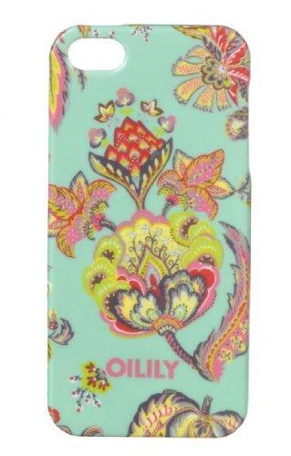 Oilily Summer Flowers iPhone 5 Case Aqua Aqua (Bleu)