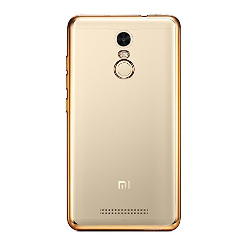 Shopizone® [Ultimate Designed] [Electroplated Edge] [Ultra Thin] [TPU] [Flexible] Protective Back Case Cover For Xiaomi Redmi Note 3 - Golden  available at amazon for Rs.99
