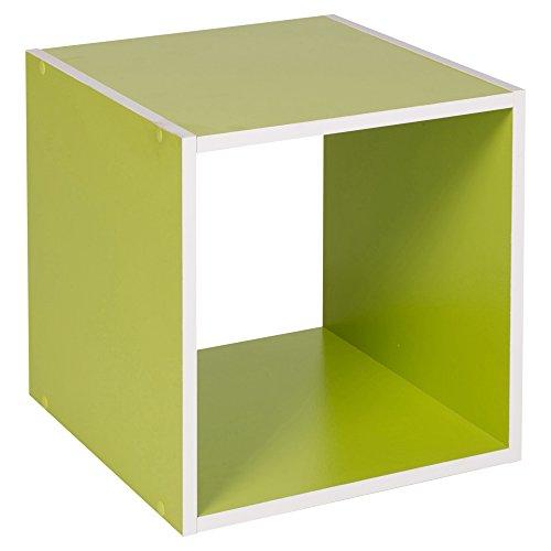 Urbn Living® 1, 2, 3, 4 étages en bois Bibliothèque Étagère de rangement étagère en bois, vert, Cube
