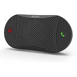 Besign [2 Ans de Garantie] BK02 Kit-Voiture Mains Libres Bluetooth 4.1 pour Voiture sur Pare-Soleil, Support du GPS, Musique, Kit Mains-Libres et Enceinte sans Fil pour Smartphones