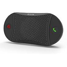 [Garantía de 2 años] Besign BK02 Manos Libres Bluetooth para Coche, Altavoz Bluetooth Coche, Contacta con Dos Smartphones a la vez, Altavoz de Parasol Manos Libres Inalámbrico, soporta GPS y Música, para Smartphone / iPhone / Android/ Xiaomi / Huawei / etc