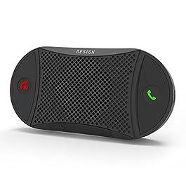 Besign BK06 Kit Vivavoce Bluetooth per Auto, per Chiamate Viva Voce, GPS e Musica, Supporto per Aletta Parasole, Auto…