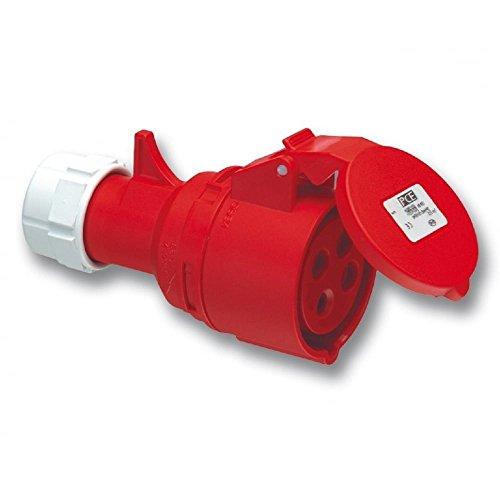 415v 32a 4 Pin Socket Red Garage Workshop 3 Phase 32 A 415 Volt Trailing
