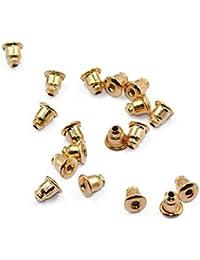 Hilai Aproximadamente 50 piezas forma de bala de cobre pendientes de seguridad dorados