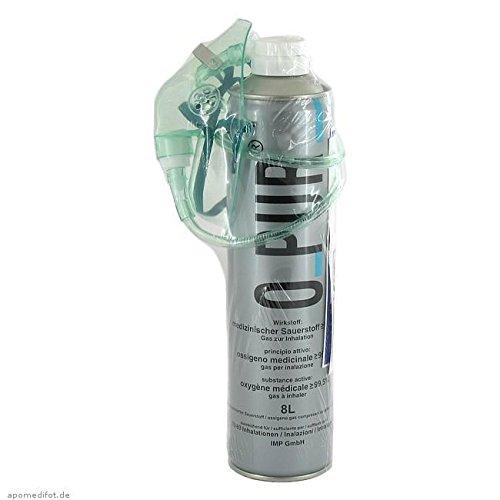 O PUR Sauerstoff Dose inkl.Maske u.Schlauch Spray 8 l Spray