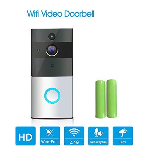 0 ℃ Outdoor WI-Fi Smart Türklingel, 720P HD Tür Überwachungskamera, Unterstützung Motion Detection, IR Nachtsicht, 2-Wege-Audio-App-Steuerung Ios Android (Motion-detection-überwachungskamera)