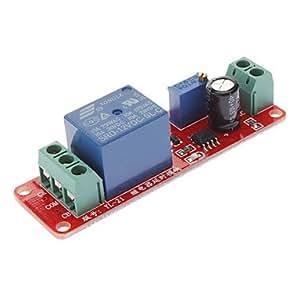 ELIMS Retard interrupteur à minuterie réglable 0 à 10 Second avec NE555 Oscillateur 12V en entrée