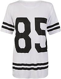 Fast Fashion - En Haut Manches Courtes 85 Nombre T-Shirt Imprimé Stripe Bouffant - Femmes