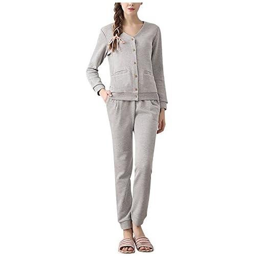 Dolamen-Coppie-Pigiama-per-Donna-Signore-calda-molle-inverno-Pigiama-da-notte-Cotone-Donna-Pigiama-invernale-manica-lunga-Top-Pantaloni-con-tasche