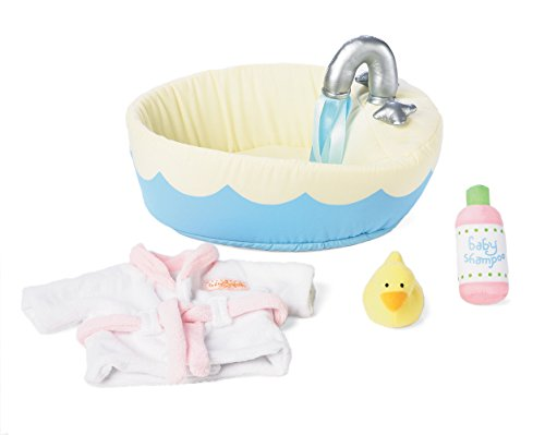 Manhattan Toy Baby Stella Soft Bath Playset for Nurturing Dolls