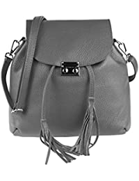 OBC MADE IN ITALY 2in1 DAMEN Echt LEDER TASCHE RUCKSACK Damentasche Handtasche Schultertasche Umhängetasche Ledertasche Lederrucksack Crossbag CrossOver