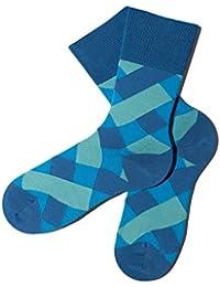 Bunte Socken - Karomuster - Beach Glass - GOTS zertifiziert - aus feinster Bio Baumwolle - Komfortbündchen