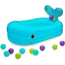 Infantino 205016 - Bañera hinchable de ballena con bolas para jugar