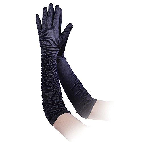 Bristol Novelty BA847 Handschuhe aus Seide, Schwarz, Damen, Einheitsgröße -
