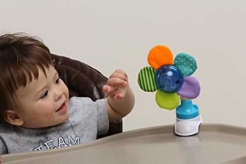 2017 BABY INNOVATION AWARD WINNER. 3 in 1 BEST Flower Rattle multifunctional & developmental TOY SET. Attachable Anywhere & Anytime on Stroller, High Chair, Crib, Car Seat, Coffee Shop Table etc.