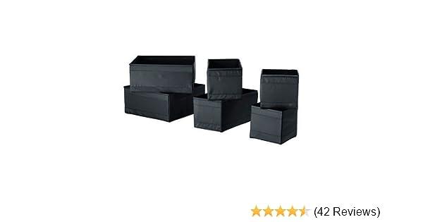 Ikea 6 Er Set Aufbewahrungsboxen Skubb Schwarz Amazon De Kuche