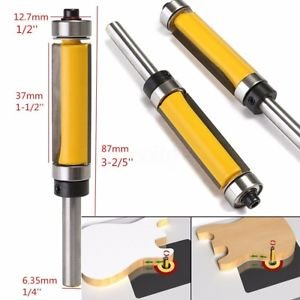 MG Universal Flush Trim Router Bit Top & Bottom Bearing 1-1/2