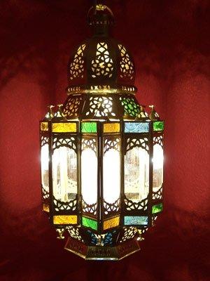 Orientalische Orient Deckenlampe Lampe Laterne Alia aus messing