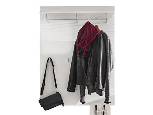 trendteam Garderobe Gardrobenpaneel Amanda, 91 x 120 x 27 cm in Weiß mit Einer Kleiderstange und...