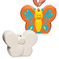 """Baker Ross Keramik-Spardosen """"Schmetterling"""" für Kinder Zum Bemalen und Dekorieren – Porzellan-Bastelset für Kinder (2 Stück) preisvergleich bei kinderzimmerdekopreise.eu"""