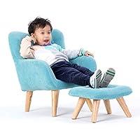 Divano Schlafsofa für Kinder, Blau mit Fußstütze, für Kinderzimmer, Schlafzimmer. preisvergleich bei kinderzimmerdekopreise.eu