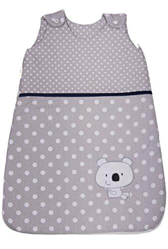 Sommerschlafsack Baby m/ädchen Junge Fr/ühling Schlafanzug d/ünner neugeboren Grau Eule 0.5 tog