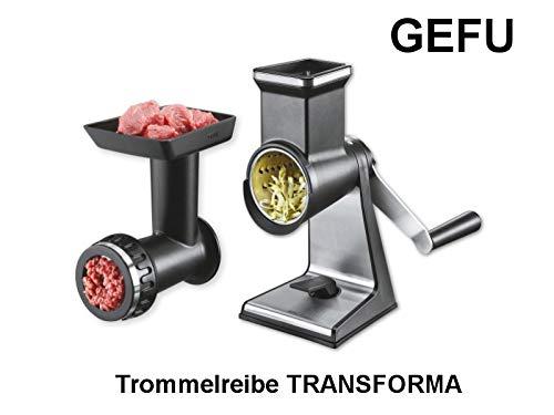 Gefu Transforma Jubiläumset bestehend aus Trommelreibe mit Fleischwolfvorsatz