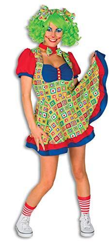 narrenkiste L3201320-44 bunt Damen Clown Kleid Zirkus Kostüm Gr.44