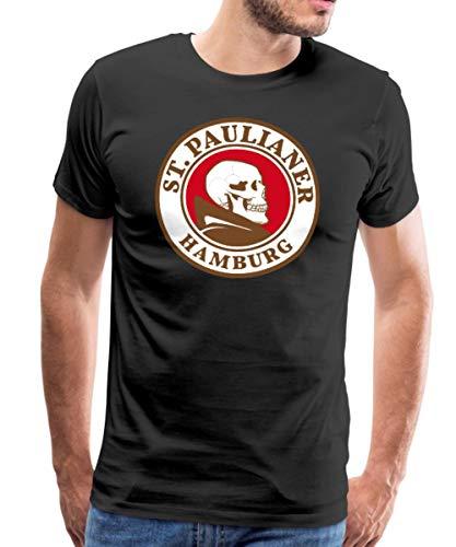 St. Paulianer Totenkopf Mönch Männer Premium T-Shirt, XL, Schwarz